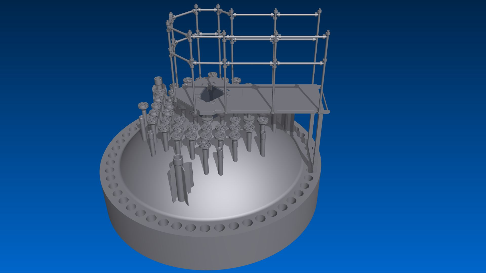 Working platform reactor cover